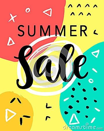Summer Sale Banner Template Vector Illustration