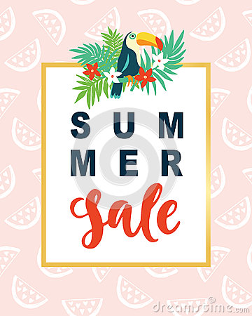 Summer Sale Modern Banner Template Background Vector Illustration
