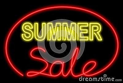 Summer sale neon