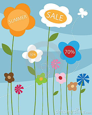 Free Summer Sale Poster Stock Photo - 14549670