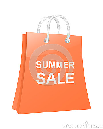 Summer sale shopping bag.