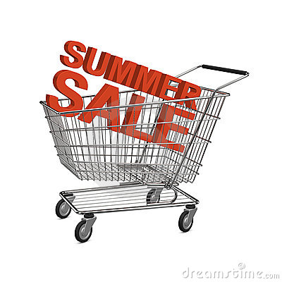 Summer sale shopping cart