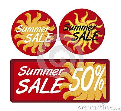 Summer sale tags