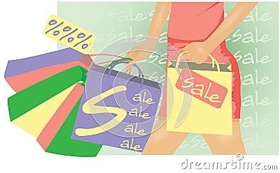 Summer sale Woman shopping