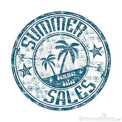 Summer sales rubber stamp
