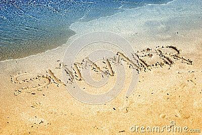 Summer on  sand