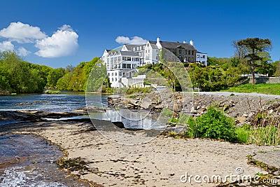 Summer scenery of river in Ennistymon
