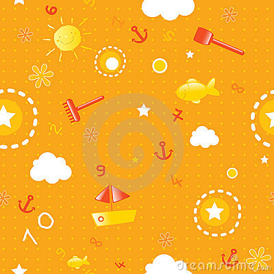 Free Summer Seamless Pattern Royalty Free Stock Photo - 5279255