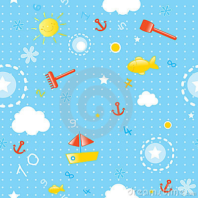 Free Summer Seamless Pattern Royalty Free Stock Image - 5819286