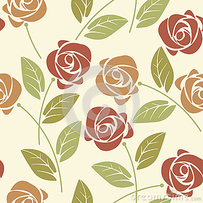 Free Summer Seamless Pattern With Colorful Roses And Leaves On Ivory Royalty Free Stock Photos - 72435468