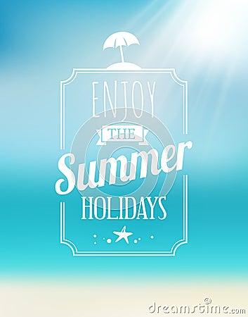 Free Summer Seaside Postcard Stock Images - 37045944