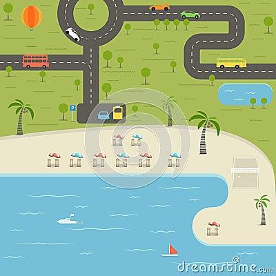 Summer season beach vacation