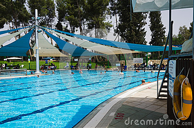 Summer Season In The Open Door Swimming Pool Editorial Image Image 56974890