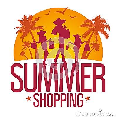 Summer shopping design template .