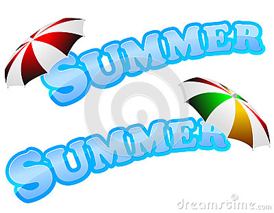 Summer sign with umbrella