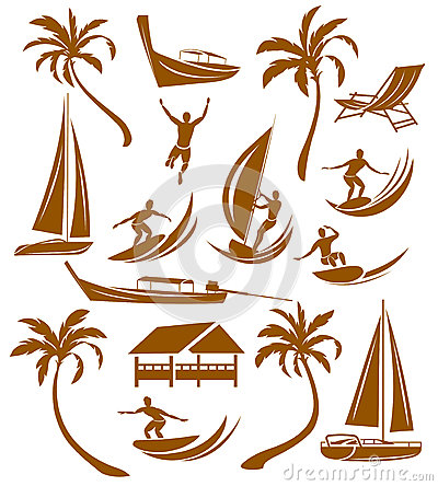 Summer silhouettes, vacation