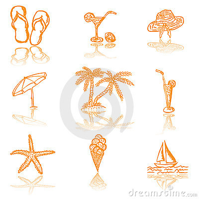 Free Summer Sketches Royalty Free Stock Photography - 18416557