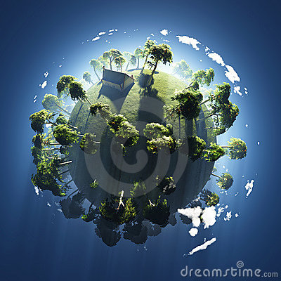 Summer On Small Green Planet Stock Image - Image: 12808921