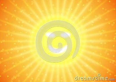 Summer smile on sun