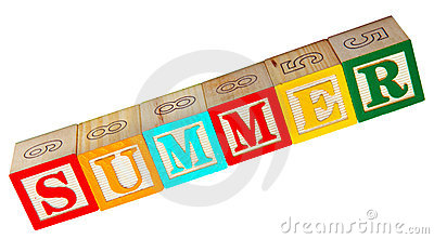 Summer Spelled In Blocks