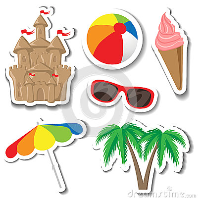 Summer sticker set