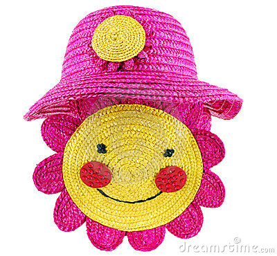 Summer straw hat and bag for child