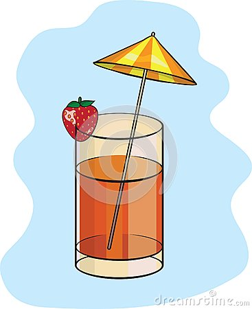 Summer strawberry coctail