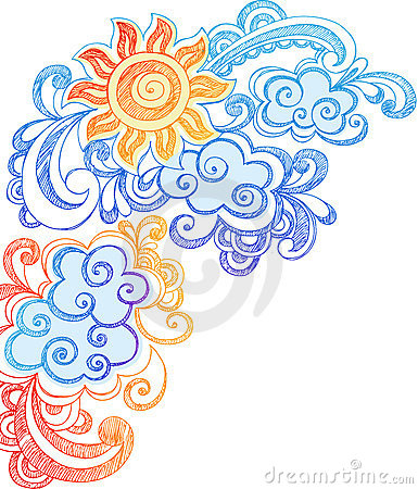Free Summer Sun And Sky Sketchy Notebook Doodles Stock Photography - 11409672