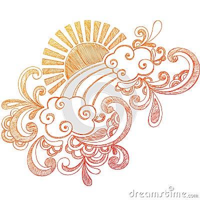 Summer Sun Sketchy Notebook Doodle