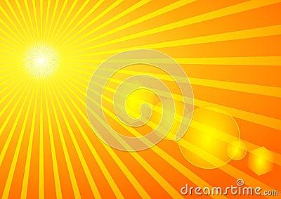 Summer Sun with Solar Flare