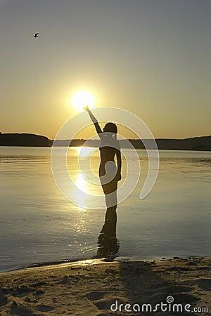Free Summer Sunset Royalty Free Stock Image - 146476