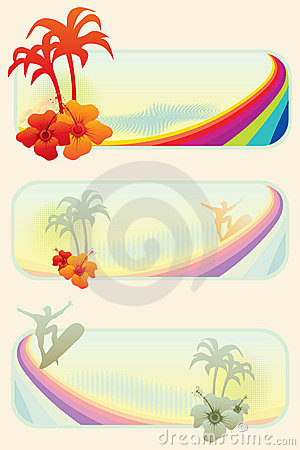 Summer surf banners