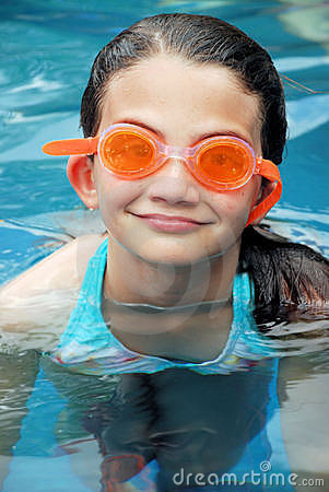 Summer Swimming with Goggles