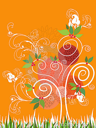 Summer Swirl Tree - illustration