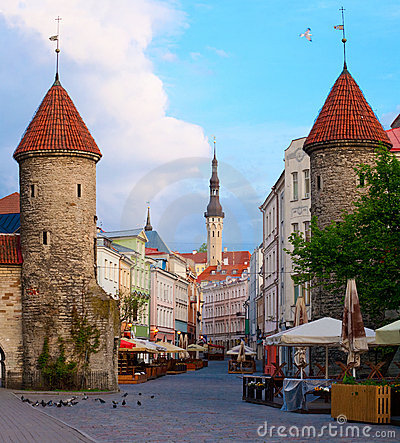 Free Summer Tallinn - Viru Gate. Royalty Free Stock Photography - 16119777