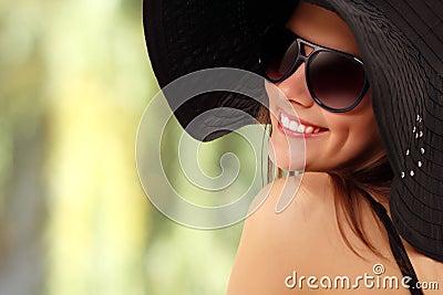 Summer teen girl cheerful