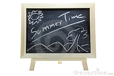 Summer time on blackboard