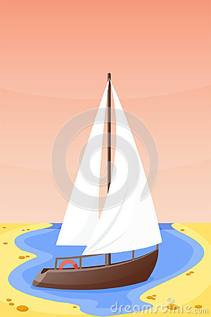 Free Summer Time Boat Vacation Nature Tropical Beach Landscape Of Paradise Island Holidays Lagoon Vector Illustration. Stock Photos - 97274153