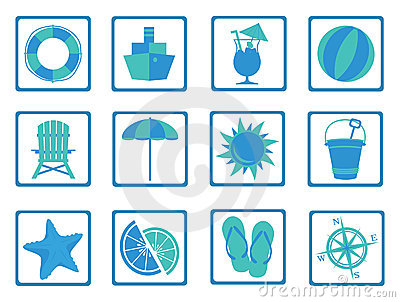 Summer Time icons