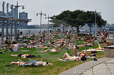 Summer time in New York City Editorial Stock Photo