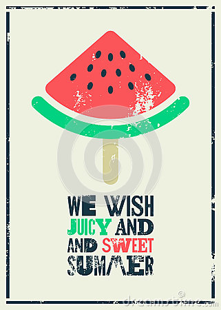 Watermelon Vintage Poster Royalty Free Stock Images - Image: 30186229