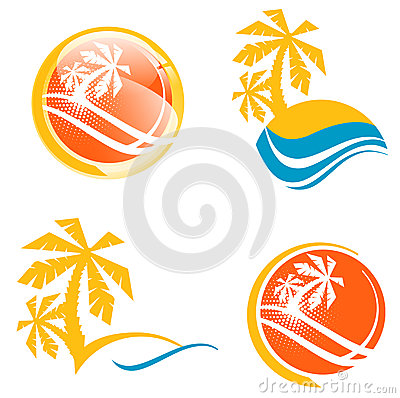 Summer Travel Icon Set