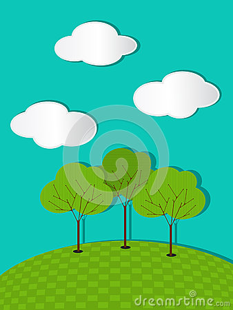 Summer trees background