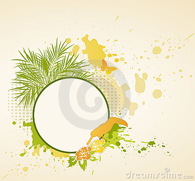 Summer tropical background