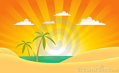 Summer Tropical Island Landscape