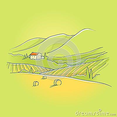 Summer tuscan landscape
