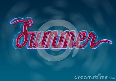 Summer Typography Design