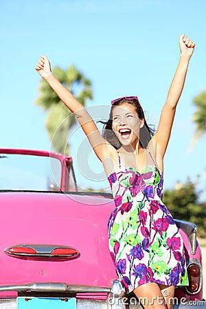 Free Summer Vacation Car Road Trip Stock Photos - 23100443