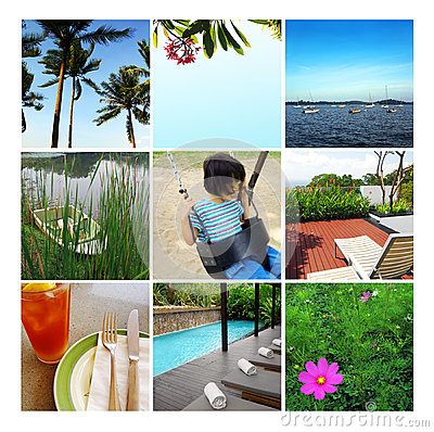 Free Summer Vacation Collage, Summertime Royalty Free Stock Photography - 25802457