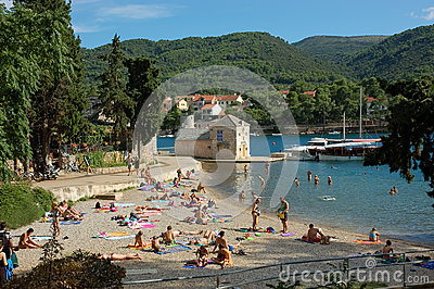 Summer vacation in Croatia Editorial Stock Photo